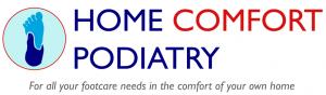 home comfort podiatry logo graphic design artwork vector