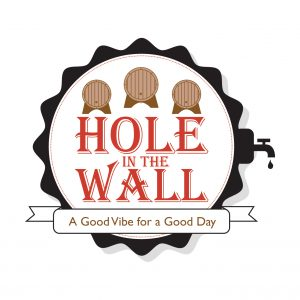 case studies, hole in the wall scarborough logo graphic design