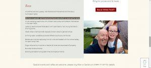 spital leisure website design maintenance contract scarborough staxton caravan camping site