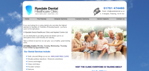 Ryedale Dental Clinic website design