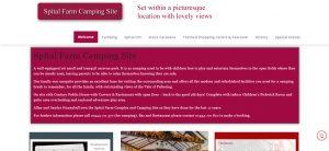 spital farm camping site website screenshot 1