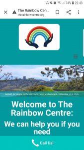 the rainbow centre website design