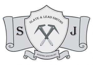 sj roofing logo design